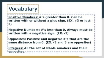 PowerPoint Lesson on Integers and Absolute Value