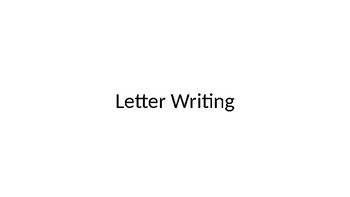 PowerPoint: Letter Writing