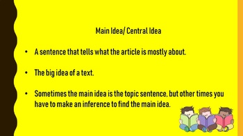 PowerPoint : Main Idea, Key Details, Paraphrasing, & Summarizing