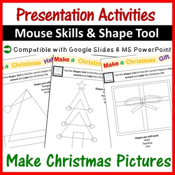 Microsoft PowerPoint Christmas Pictures using Shapes Tool - Computer Lab