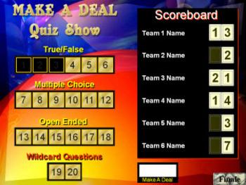 PowerPoint Make a Deal Quiz Show