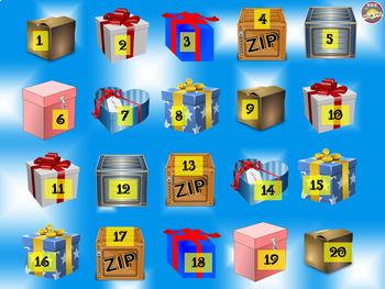 PowerPoint Math Warm-Up Game: Mystery Box. Fun Math Game.