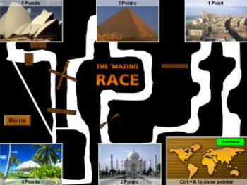 PowerPoint Mazing Race Game
