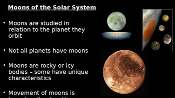 PowerPoint with Notetaking Guide: Moons, Dwarf Planets, Comets, and Asteroids