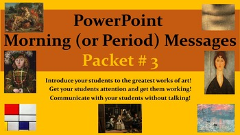 PowerPoint Morning (or Period) Messages PACKET 3