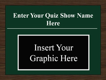 PowerPoint Multiple Choice Quiz Show Game Template