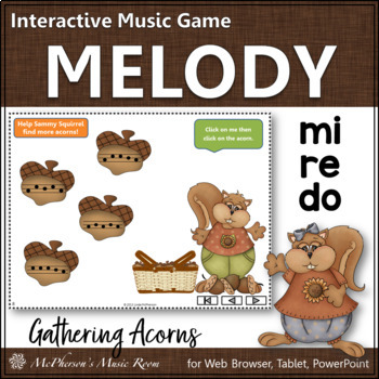 Do Re Mi Interactive Melody Game {Gathering Acorns}