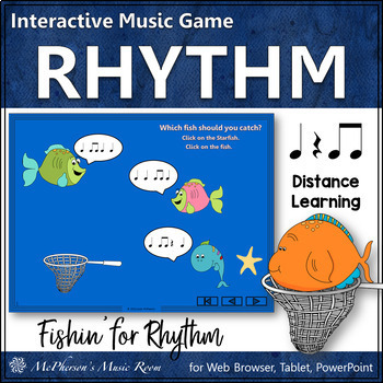 Music Game: Eighth Notes Interactive Rhythm Game {Fishin'}