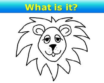 PowerPoint Mystery Drawing Game 2 Safari Faces Elementary Fun Game