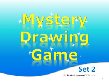 PowerPoint Mystery Drawing Game 2 Safari Faces Elementary