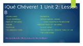 PowerPoint & Notes Guide Aligned to ¡Qué Chévere! 1 Unit