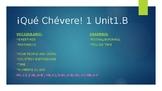PowerPoint & Notes Guide ¡Qué Chévere! 1 Unit 1: Lesson B