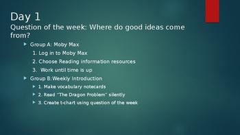 PowerPoint Outline of Wonders Unit 1 Week 1 4th Grade