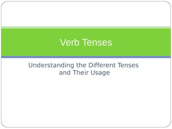 PowerPoint Overviewing Verb Tenses