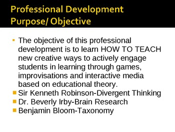 PowerPoint PD on Developing Creative Curriculum based on Research