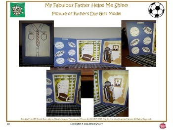 PowerPoint Packet of Father's Day Gift Idea: My Fabulous Father Helps Me Shine!