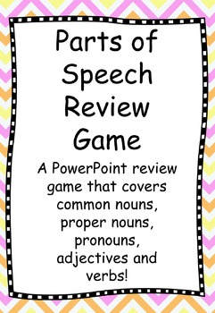PowerPoint Parts of Speech Review Game: Nouns, Adjectives, and Verbs
