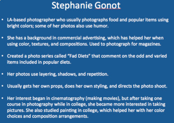 Photographer of the Week PowerPoint