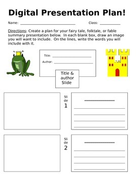 PowerPoint Planner for Fairy Tale