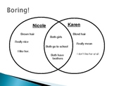 PowerPoint Presentation:  Character Traits and Venn Diagrams