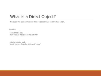 PowerPoint Presentation: Direct Object Pronouns in Spanish
