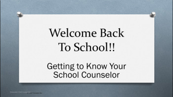 PowerPoint Guidance Lesson- Counselor Introduction & What is a Counselor