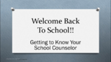 Introduce Counselor READY TO USE (NO PREP) Lesson What I Do Back to School