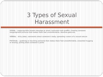 PowerPoint Presentation for Middle School Students on Sexual Harassment