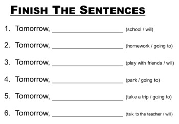 Grade 1 Grammar Future Tense