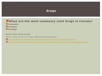 PowerPoint Presentation on Substance Abuse, Addictions (drugs, alcohol)