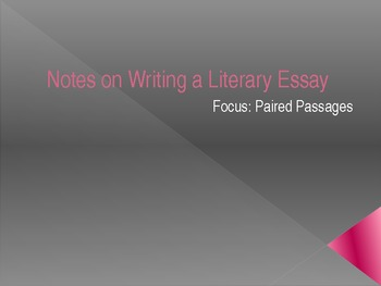 PowerPoint Presentation on Writing a Paired Passage Essay