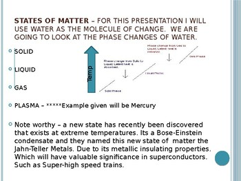 PowerPoint Presentation on the States of Matter (Secondary)