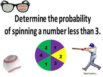 PowerPoint Probability Baseball themed game - Great unit or STAAR review