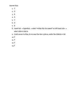 PowerPoint Quiz #1