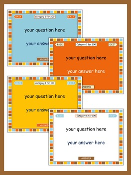 PowerPoint Game Templates Chocolate style  Commercial Use OK