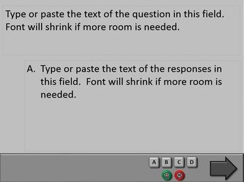 PowerPoint Quiz Templates Set D (10 templates)