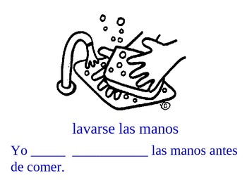 Reflexive Verb Conjugation Practice in Spanish