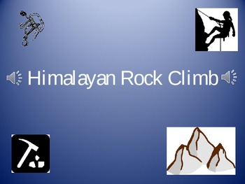 Review Game - Customizeable PowerPoint - Climb Mt. Everest Theme
