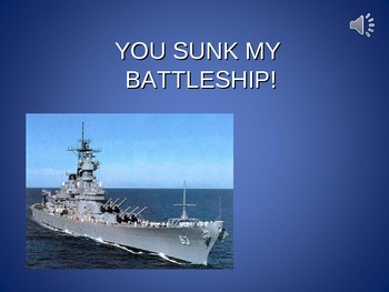 PowerPoint Review Game Customize - You Sunk My Battleship