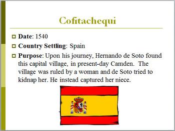 PowerPoint: SC Settlements and Treaties: SC Standard 8-1.2