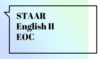 PowerPoint: STAAR EOC English II Exam Review