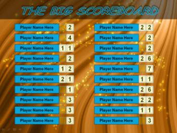 PowerPoint Scoreboard for 20 Participants