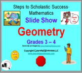 Geometry Slide Show for Grades 3 and 4 - Angles, 2D Shapes