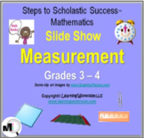 Measurement Slide Show for Grades 3-4, Perimeter, Area, Vo