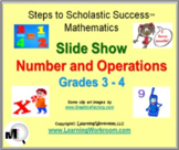 Number and Operations Math Slide Show for Grades 3 - 4