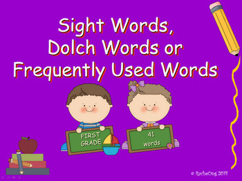 PowerPoint Slide Show - Sight Words: First Grade