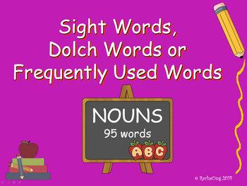 PowerPoint Slide Show - Sight Words: NOUNS