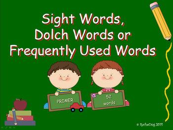 PowerPoint Slide Show - Sight Words: Primer