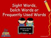 PowerPoint Slide Show - Sight Words: Second Grade