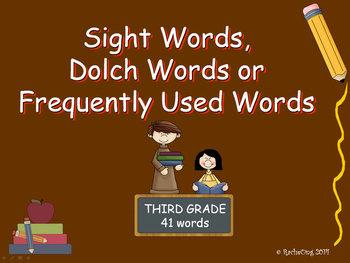 PowerPoint Slide Show - Sight Words: Third Grade
